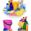 Means for cleaning isolated on white background — Stock Photo #67733329
