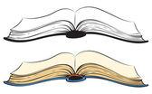 Open book. Vector sketch — Stock Vector