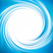 Vector blue swirling backdrop with space for text — Stock Vector