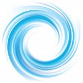 Vector background of blue swirling water texture  — Stock Vector