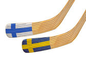 Two hockey sticks — Stock Photo