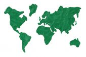 Map of the earth — Stock Photo