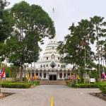 "White temple in public temple ""Wat Yansangwararam"", Pattaya, Thailand — Stock Photo #51835807"