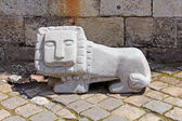 Statue of little lion in Lviv, Ukraine — Foto de Stock