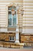 Lantern in Potocki Palace in Lviv, Ukraine. Currently - Lviv National Art Gallery — Stock Photo