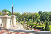 "Mezhyhirya - former private residence of ex-president Yanukovich, now open to the public, Kyiv region, Ukraine. View of the park from building ""Honka' — Stock Photo"