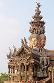 Details of Sanctuary of Truth temple (also called Wang Boran and Prasat Mai), Pattaya, Thailand — Fotografia Stock