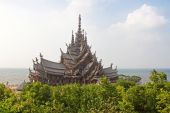 Sanctuary of Truth temple (also called Wang Boran and Prasat Mai). Pattaya, Thailand — Foto Stock