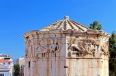 Ruins of a tower, Tower of the Winds, Roman Agora, Athens, Greece — Stock Photo