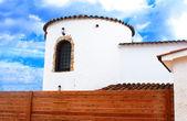 Part of white mediterranian house in Lloret de Mar, Spain — Stockfoto