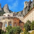 Montserrat Monastery is a beautiful Benedictine Abbey high up in the mountains near Barcelona, Spain — Stock Photo #58778565
