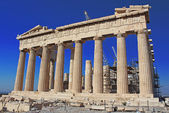 View of Parthenon Temple, Acropolis, Athens, Greece — Stock Photo