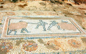 Archaic Roman era mosaic found at ancient Dion of Greece — Stock Photo