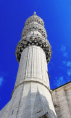 Minaret of Blue Mosque, Istanbul, Turkey — Stock Photo