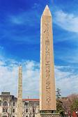 Obelisk at hippodrome in Istanbul, Turkey — Stock Photo