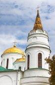 Domes of Transfiguration Cathedral in Chernigov, Ukraine — Zdjęcie stockowe