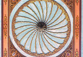 Ceiling of Topkapi Palace in Istanbul,Turkey — Stock fotografie