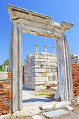 The ruins of the st. Johns Basilica constructed in the 5th Century AD by Emperor Justinian on Ayasuluk Hill, Selcuk, Ephesus, Turkey — Stock Photo
