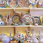 Classical Turkish ceramics on the market — Stock Photo #64465995