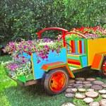 Flower cars exhibition at Spivoche Pole  in Kyiv, Ukraine — Stock Photo #64466253