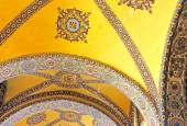 Inside the Hagia Sophia mosque in Sultanahmet, Istanbul, Turkey — Stock Photo