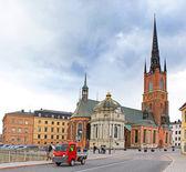 Riddarholmen Church tower at Stockholm, Sweden — Stock Photo