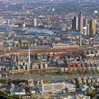 Panoramic view of Skyline Frankfurt, Germany from the plane — Stock Photo #65865179