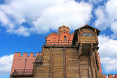 Golden gate of Kyiv were built in 1164 at the Kyiv Prince Yaroslav the Wise, Ukraine — Fotografia Stock