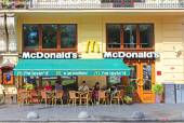 MacDonalds restaurant in Lviv, Ukraine — Stock Photo