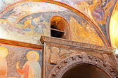Murals under the dome in the Church of the Holy Savior Outside the Walls. Second name of it now is The Kariye Museum in Istanbul, Turkey — Stock Photo