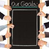 Goals list — Stock Photo