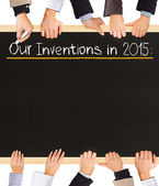 Inventions list — Stock Photo