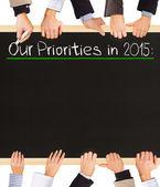 Priorities list — Stock Photo