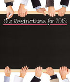 Restrictions list — Stock Photo