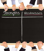 Strengths Weaknesses — Stock Photo