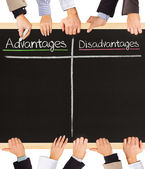 Advantages Disadvantages — Stock Photo