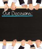 Decisions list — Stock Photo