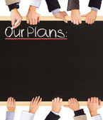 Our Plans — Stock Photo