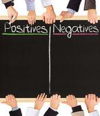Positives Negatives — Stock Photo