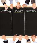 Yesterday, today, tomorrow — Stock Photo