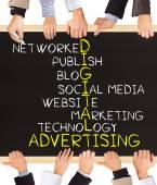 DIGITAL advertising — Stock Photo