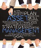 ASSET management — Stock Photo