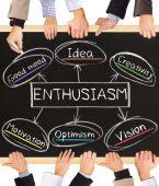 ENTHUSIASM concept — Stock Photo
