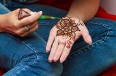 Modern Mehendi Art — Stock Photo