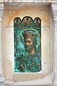 Basreliéf s duchovní symboly — Stock fotografie