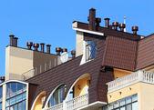 Aparelhos de ventilação no telhado — Foto Stock