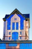 Gebäude kuppel der stahl farbe — Stockfoto