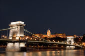 Chain Bridge, Budapest, internet tax and corruption — Stock Photo