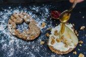 Christmas cake, yaratıcı yiyecekler — Stok fotoğraf