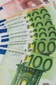 Euro bono arka plan. sığ odak. — Stok fotoğraf